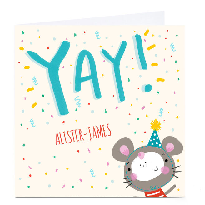 Personalied Carol Richardson Card - YAY Mouse