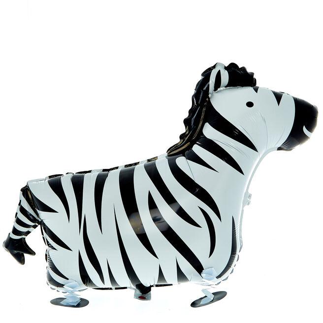 Walking Pet Zebra Foil Balloon