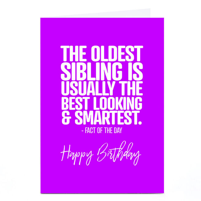Personalised Punk Birthday Card - Oldest Sibling