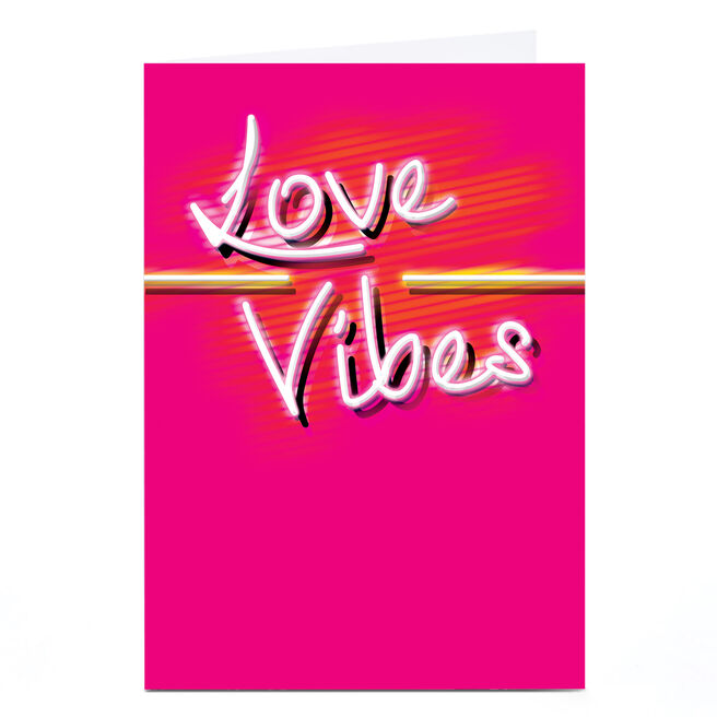 Personalised Summer Vibes Card - Love Vibes