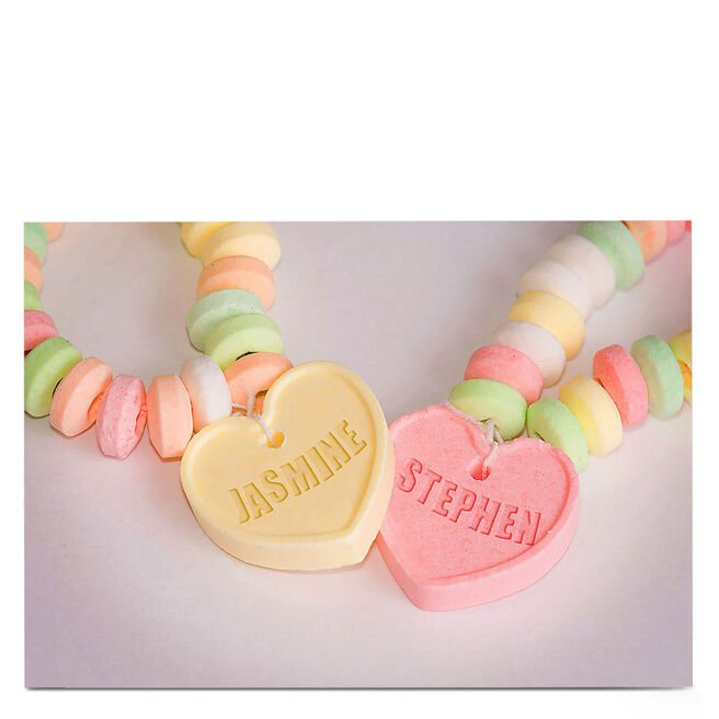 Personalised Card - Candy Necklaces