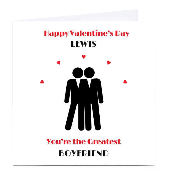 Personalised Valentine's Card - His & His, Greatest Boyfriend