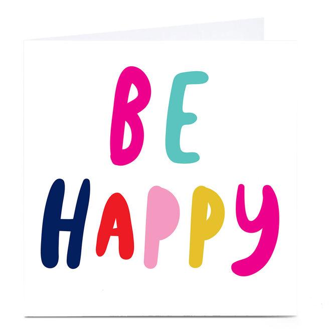 Personalised Hello Munki Card - Be Happy