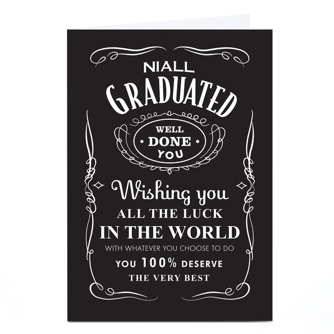 Personalised Graduation Card - Whiskey Label