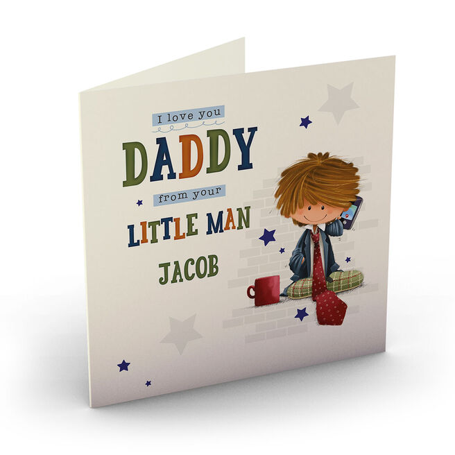 Personalised Father's Day Card - From Your Little Man