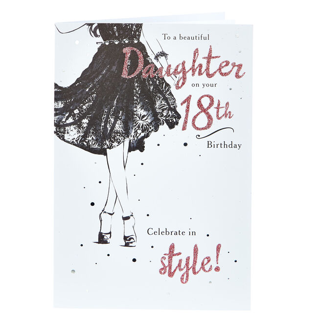 18th Birthday Card - To A Beautiful Daughter