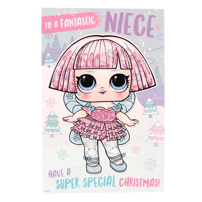 LOL Christmas Card - Fantastic Niece, Super Special Christmas