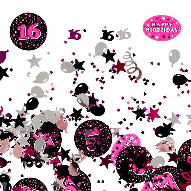 16th Birthday Pink Foiletti - Pack Of Three