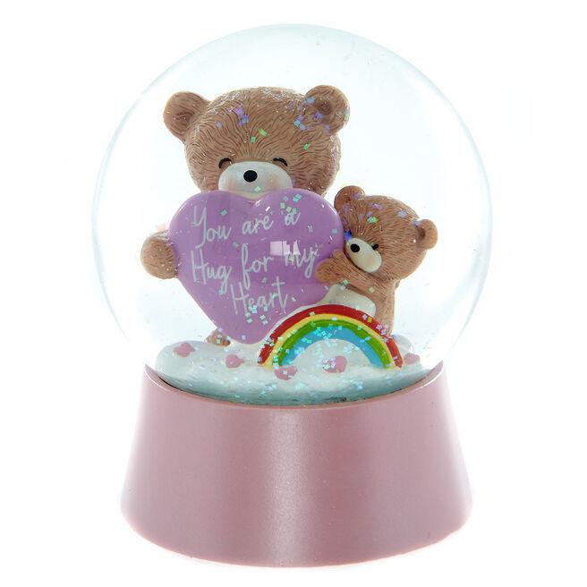 A Hugs For My Heart Glitter Water Ball
