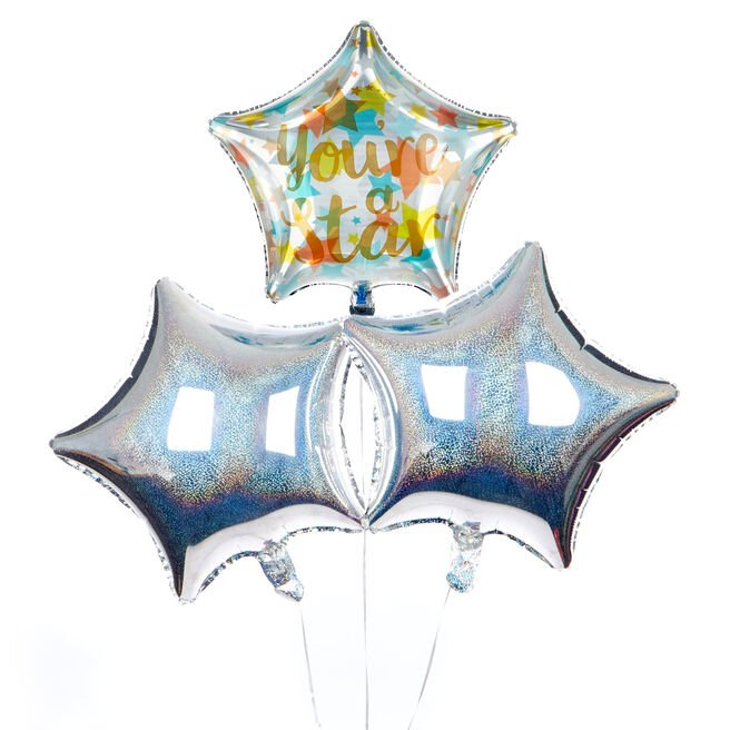 You're A Star Balloon Bouquet - DELIVERED INFLATED!