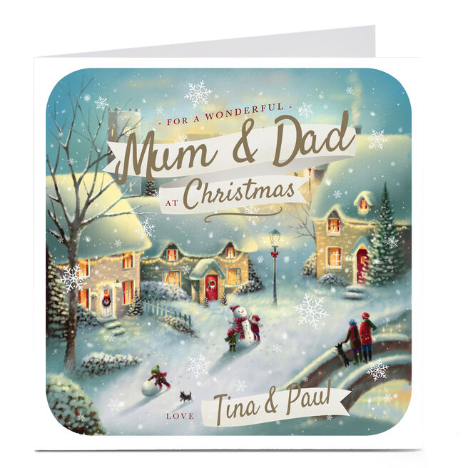 Personalised Christmas Card - Mum & Dad Wonderful Christmas