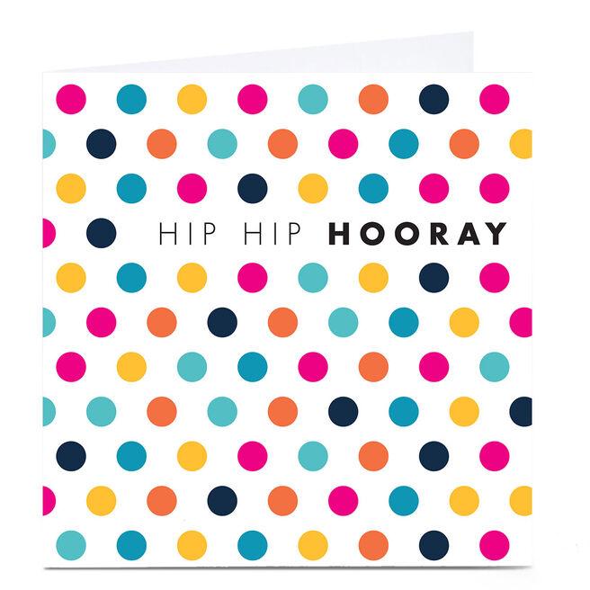Personalised Hello Munki Card - Hip Hip Hooray