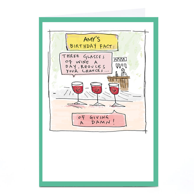 Personalised Vicar Of Scribbly Card - Birthday Fact