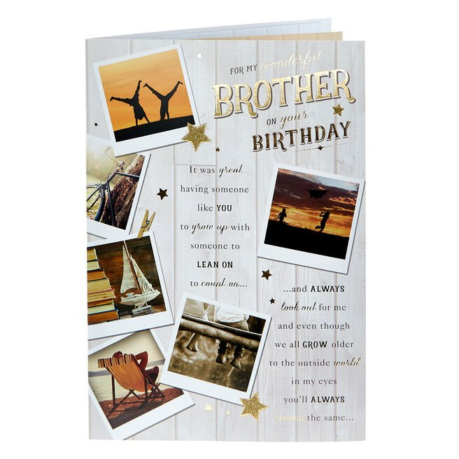 Birthday Card - Wonderful Brother, Traditional