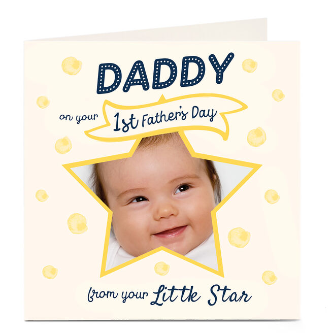 Photo Father's Day Card - First Father's Day