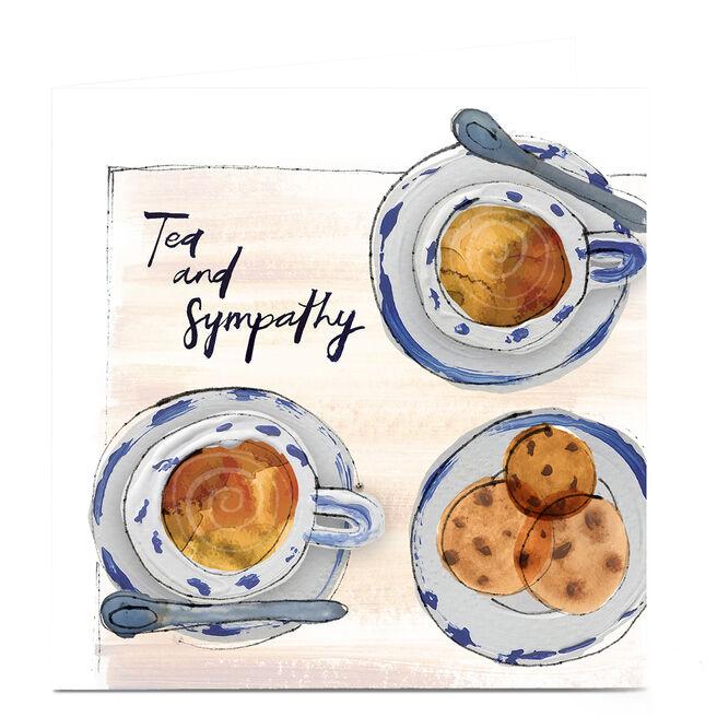 Personalised Emma Valenghi Sympathy Card - Tea