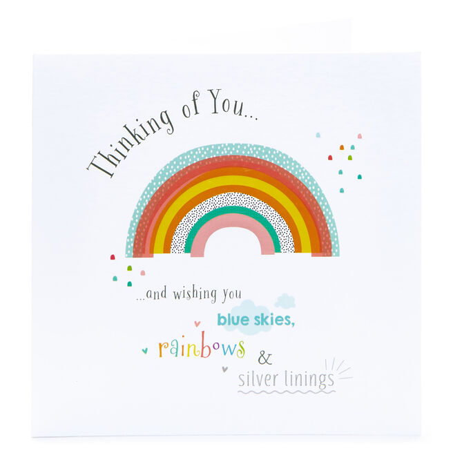 Thinking Of You Card - Rainbows