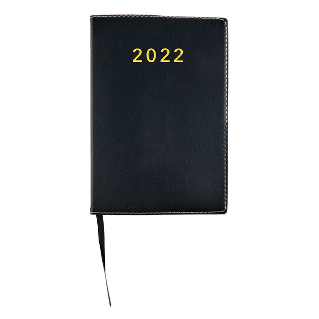 Black Non Page-A-Day 2022 Pocket Diary