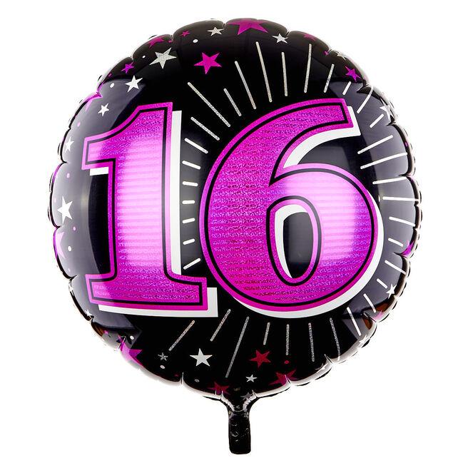 31 Inch 16th Birthday Helium Balloon - Pink