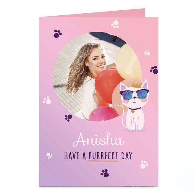 Photo Birthday Card - Purrfect Day
