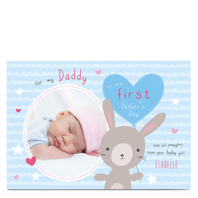Photo Father's Day Card - On Your First Father's Day, Girl
