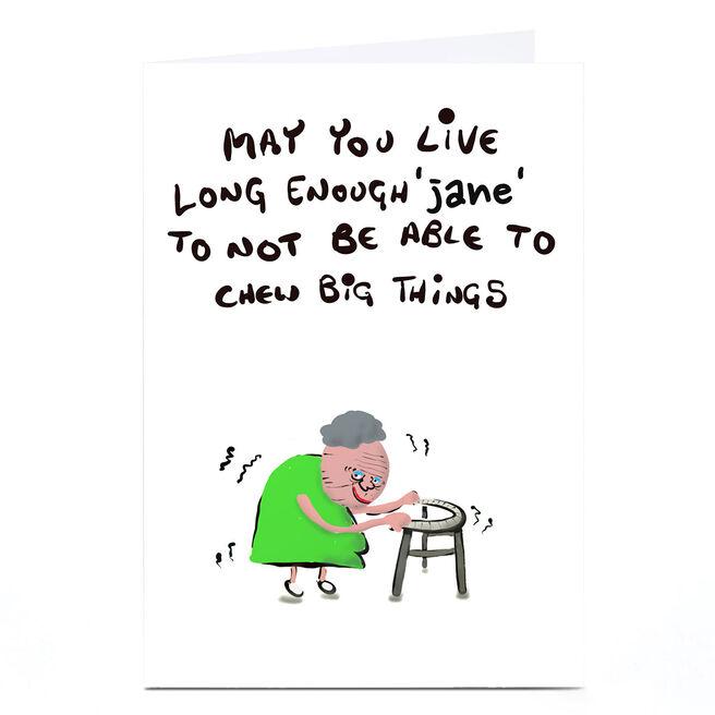 Personalised Do Something David Birthday Card - Chew Big Things