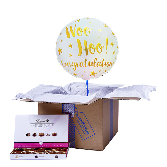Woo Hoo! Congratulations Balloon & Chocolate Box