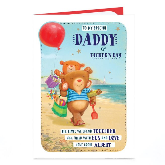 Personalised Father's Day Card - To My Special Daddy