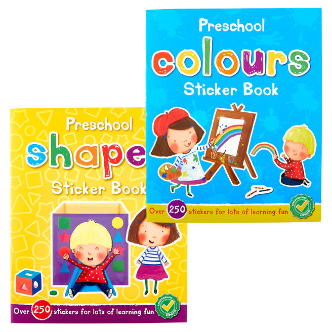 Preschool Shapes & Colours Sticker Books - Set Of 2