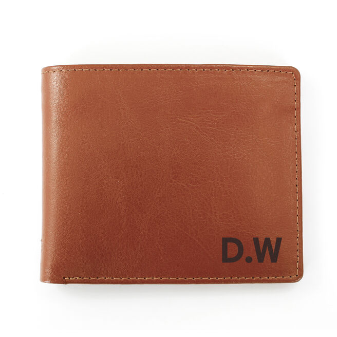 Personalised Tan Wallet With Initials