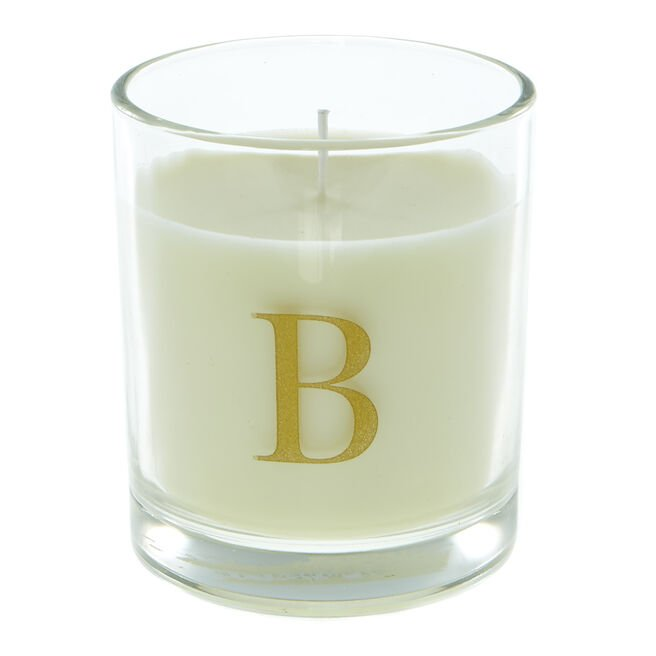 Letter B Warm Cashmere Scented Candle