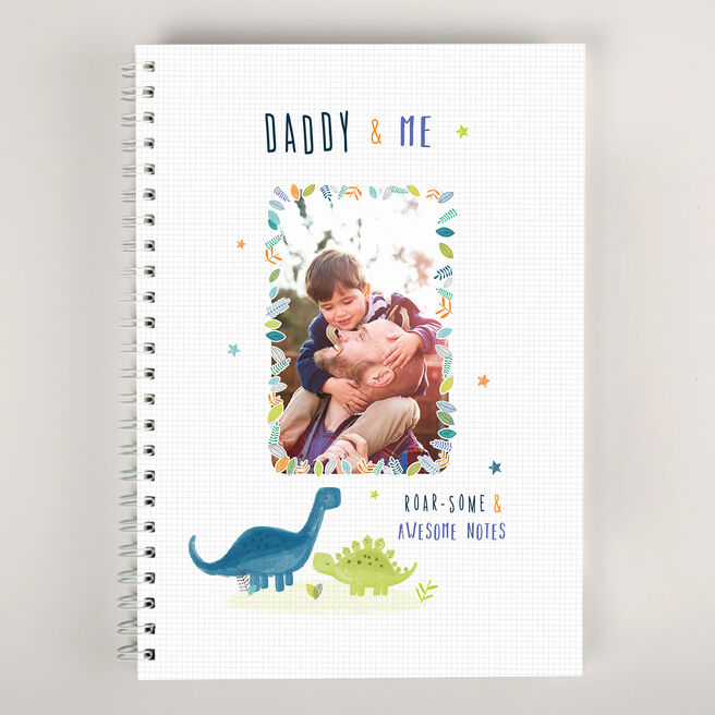Personalised Father's Day Notebook - Daddy & Me