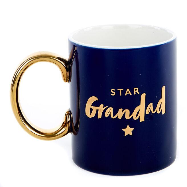 Star Grandad Christmas Mug