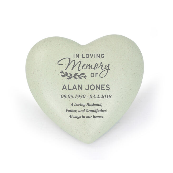 Personalised Memorial Heart Ornament - In Loving Memory