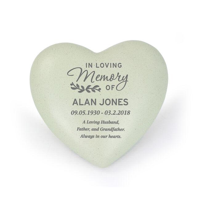 Personalised Memorial Heart Ornament - In Loving Memory