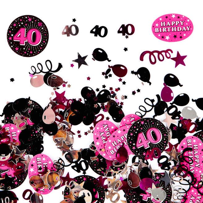 40th Birthday Pink Foiletti - Pack Of Three