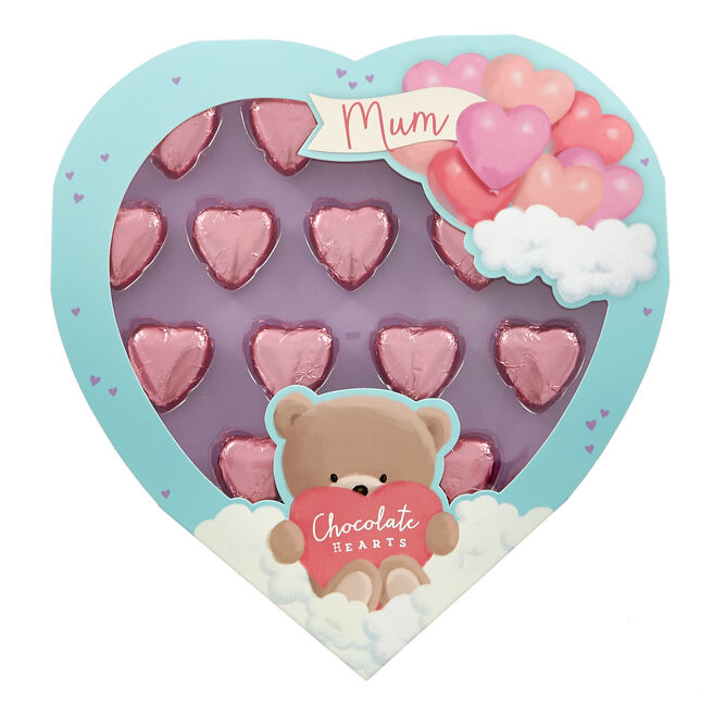 Hugs Bear Mum Chocolate Hearts