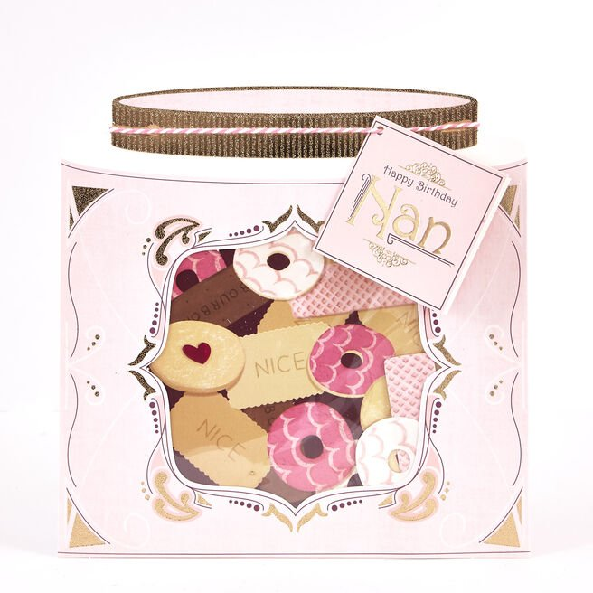 Boutique Collection Birthday Card - Nan, Biscuits