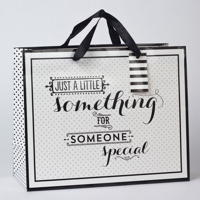 Medium Black & White Someone Special Gift Bag