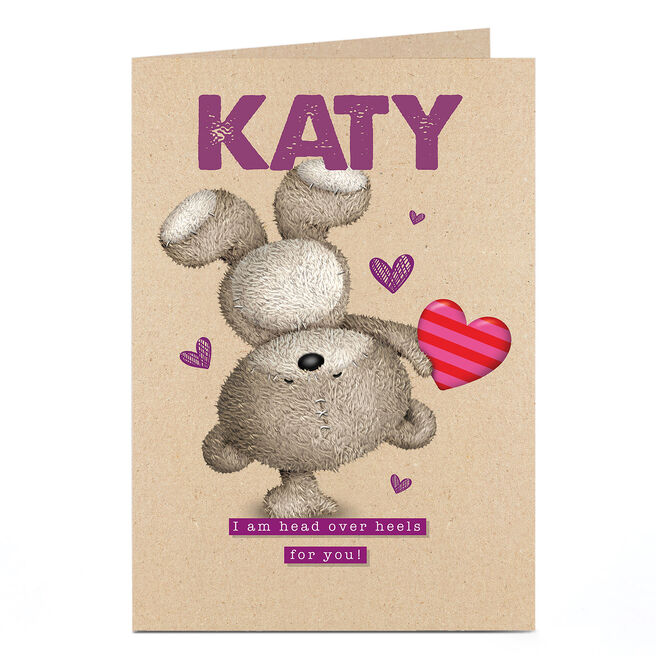 Personalised Hugs Bear Card - Head Over Heels