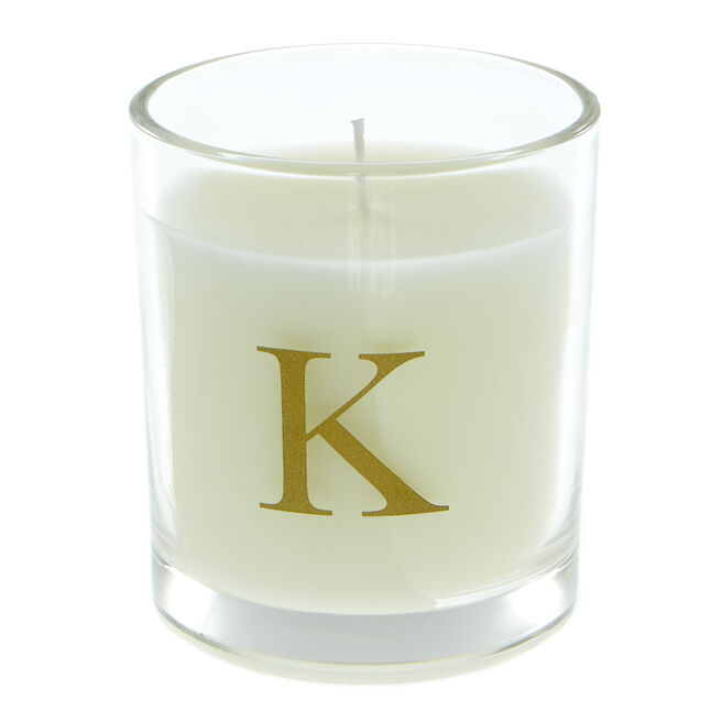 Letter K Warm Cashmere Scented Candle