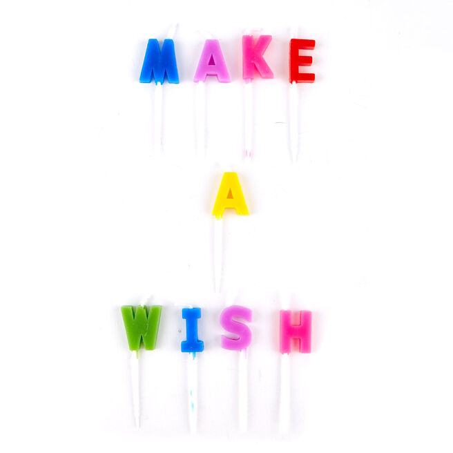 Rainbow Make A Wish Birthday Party Candles - Pack Of 9