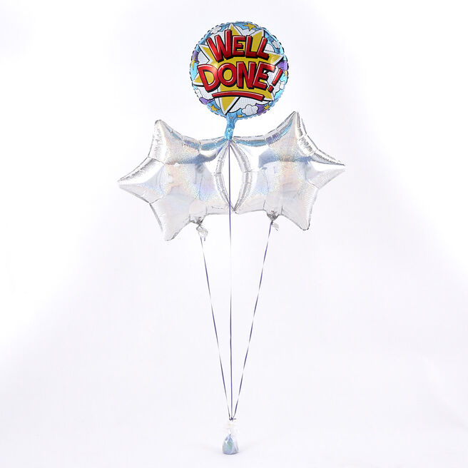 Well Done Silver Balloon Bouquet - The Perfect Gift!