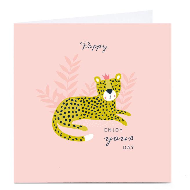 Personalised Klara Hawkins Card - Enjoy Your Day