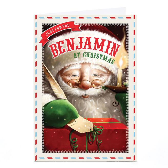 Personalised Christmas Card - Traditional Santa