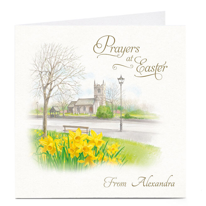 Personalised Easter Card - Church Prayers At Easter
