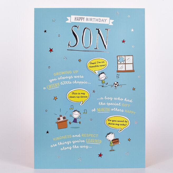 Birthday Card - Son Cheeky Chappie