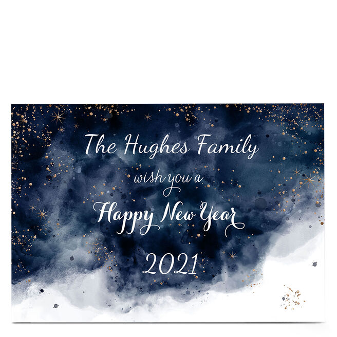 Personalised Christmas Card - Happy New Year Family