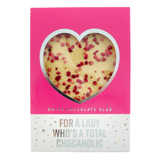 White Chocolate Slab - For A Lady Who's A Total Chocaholic