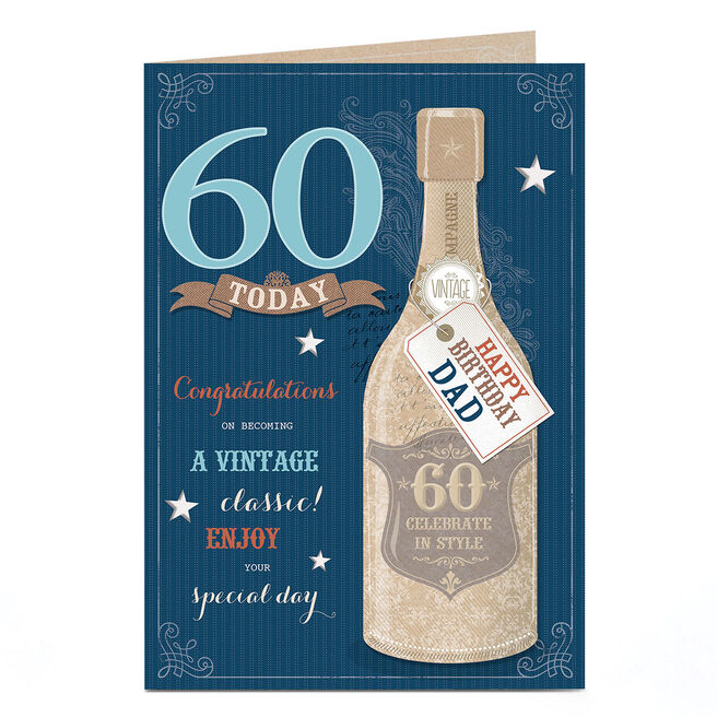 Personalised 60th Birthday Card - Vintage Classic [Dad]